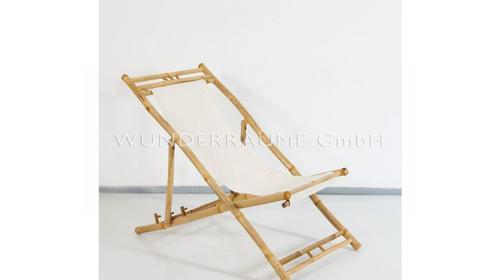 Liegestuhl Bambus - WUNDERRÄUME GmbH vermietet: Dekoration/Kulisse für Event, Messe, Veranstaltung, Incentive, Mitarbeiterfest, Firmenjubiläum