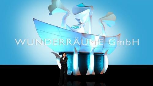 Weißes Schiff, mit Tröten - WUNDERRÄUME GmbH vermietet: Dekoration/Kulisse für Event, Messe, Veranstaltung, Incentive, Mitarbeiterfest, Firmenjubiläum