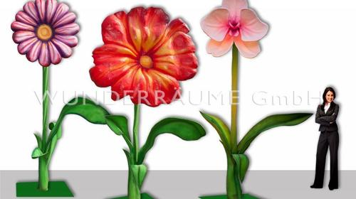 3 Riesenblumen bis 4m / SET 3 - WUNDERRÄUME GmbH vermietet: Dekoration/Kulisse für Event, Messe, Veranstaltung, Incentive, Mitarbeiterfest, Firmenjubiläum