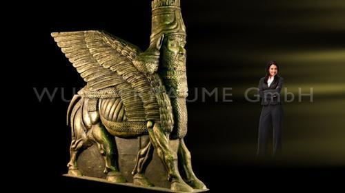 Sphinx 2x; XXL; Halbplastik; schwarz/gold WUNDERRÄUME GmbH vermietet: Dekoration / Kulisse für Event, Messe, Veranstaltung, Incentive, Mitarbeiterfest, Firmenjubiläum