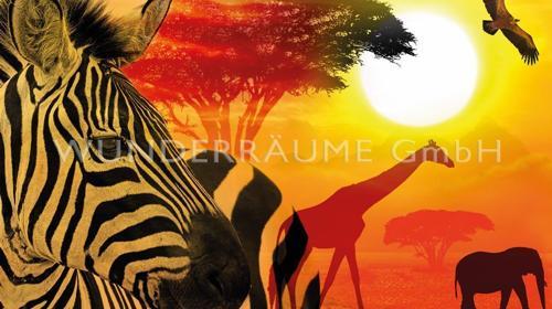 """Leinwanddruck """"Tiere Afrika"""" - WUNDERRÄUME GmbH vermietet: Dekoration/Kulisse für Event, Messe, Veranstaltung, Incentive, Mitarbeiterfest, Firmenjubiläum"""