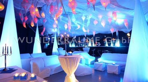 Blue Lounge - WUNDERRÄUME GmbH vermietet: Dekoration/Kulisse für Event, Messe, Veranstaltung, Incentive, Mitarbeiterfest, Firmenjubiläum