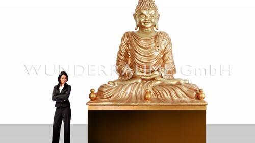 Buddha Statue XXL - WUNDERRÄUME GmbH vermietet: Dekoration/Kulisse für Event, Messe, Veranstaltung, Incentive, Mitarbeiterfest, Firmenjubiläum