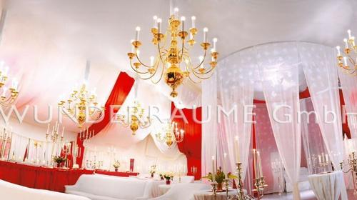 Rot-Weißer Saal - WUNDERRÄUME GmbH vermietet: Dekoration/Kulisse für Event, Messe, Veranstaltung, Incentive, Mitarbeiterfest, Firmenjubiläum