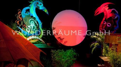 Beleuchtete Scheibe - WUNDERRÄUME GMBH vermietet: Dekoration/Kulisse für Event, Messe, Veranstaltung, Incentive, Mitarbeiterfest, Firmenjubiläum