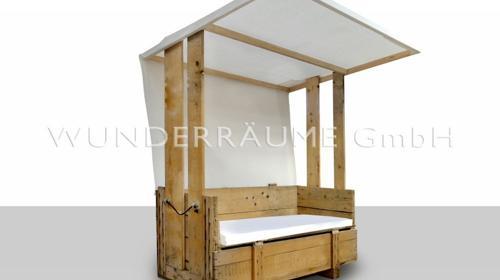 Sofa Rustikal 1, mit Dach - WUNDERRÄUME GmbH vermietet: Dekoration/Kulisse für Event, Messe, Veranstaltung, Incentive, Mitarbeiterfest, Firmenjubiläum