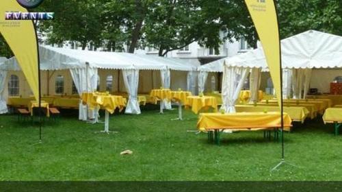 Partyzelt 6x12 Meter Pro PVC Feuerfest