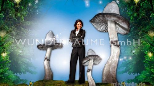 Pilze groß, Pilzset Tintlinge (5 Pilze) - WUNDERRÄUME GmbH vermietet: Dekoration/Kulisse für Event, Messe, Veranstaltung, Incentive, Mitarbeiterfest, Firmenjubiläum