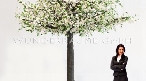 Kirschblüten-Baum M, weiß - WUNDERRÄUME GmbH vermietet: Dekoration/Kulisse für Event, Messe, Veranstaltung, Incentive, Mitarbeiterfest, Firmenjubiläum