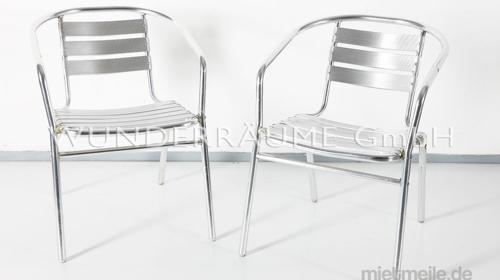 Aluminium Stuhl - WUNDERRÄUME GmbH vermietet: Dekoration/Kulisse für Event, Messe, Veranstaltung, Incentive, Mitarbeiterfest, Firmenjubiläum