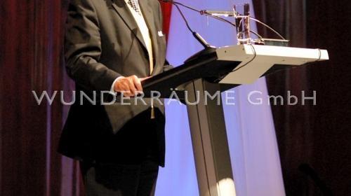 Rednerpult, inkl. Leuchte - WUNDERRÄUME GmbH vermietet: Dekoration/Kulisse für Event, Messe, Veranstaltung, Incentive, Mitarbeiterfest, Firmenjubiläum