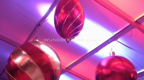 XXL-Weihnachtsbaumkugel-Set - WUNDERRÄUME GmbH vermietet: Dekoration/Kulisse für Event, Messe, Veranstaltung, Incentive, Mitarbeiterfest, Firmenjubiläum