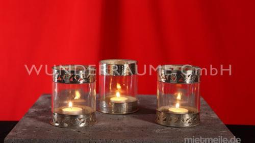 Windlicht mit Zierrand - WUNDERRÄUME GmbH vermietet: Dekoration/Kulisse für Event, Messe, Veranstaltung, Incentive, Mitarbeiterfest, Firmenjubiläum