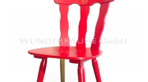 Stuhl, rot-gold - WUNDERRÄUME GmbH vermietet: Dekoration/Kulisse für Event, Messe, Veranstaltung, Incentive, Mitarbeiterfest, Firmenjubiläum