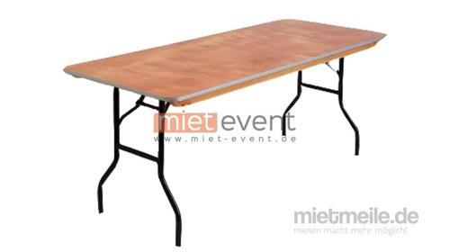 Eckigen Banketttisch / Tische mieten