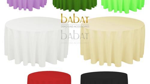 Hochzeitsdekoration Tischdecken - Runde Tischdecke Mieten verschiedene Farben