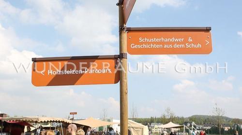 Wegweiser - WUNDERRÄUME GmbH vermietet: Dekoration/Kulisse für Event, Messe, Veranstaltung, Incentive, Mitarbeiterfest, Firmenjubiläum