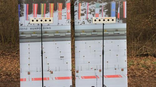 Biathlon schießen ~ Laser schießen ~ mit 5-fach Empfänger