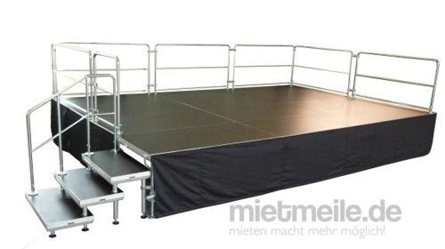 8 x 4m Bühne - Podesterie inkl. Treppe - Podeste - Showbühne