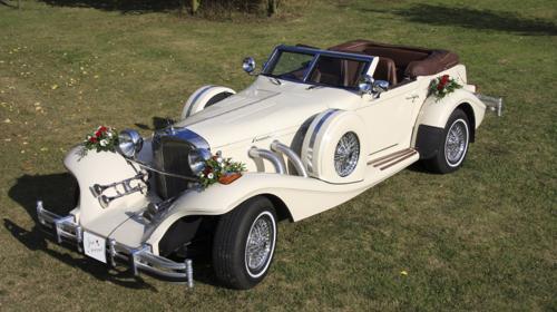 Hochzeitsauto Oldtimer Excalibur Phaeton Serie 5 mit Chauffeur