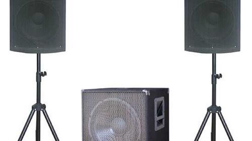 PA-Komplettsystem, PA Anlage, Aktiv-Soundsystem 2.1 System 1000 Watt, 1x Subwoofer 2x Satellit, USB, SD, Mikrofon, Mischpult, CD/DVD Player und Multi Lichtefekt für bis zu 120 Pers