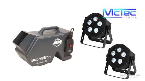 LED Lichtanlage Lichttechnik Licht Partybeleuchtung Scheinwerfer Seifenblasenmaschine