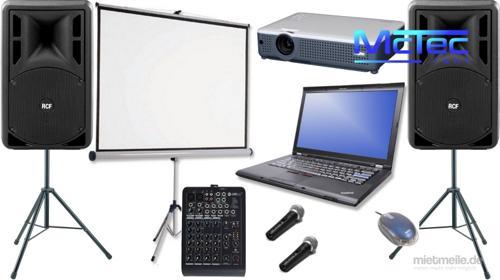 Karaokeanlage Musikanlage Lautsprecher Partyanlage Mischpult Mikrofon Beamer Laptop