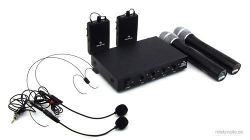 4x Funk-Mikrofon Set Headset