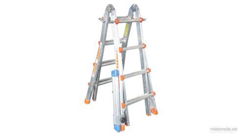 Treppenleiter Teleskopleiter Leiter Alu 4x4