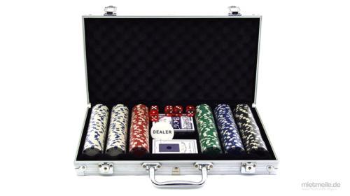 Poker-Set Pokerkoffer Poker-Chips Spielkarten