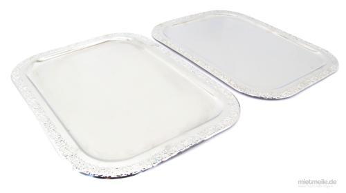 2x Servierplatte Servier-Tablett Schlemmerplatte