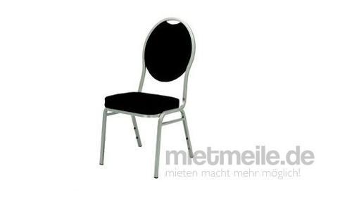 Bankettpolsterstuhl schwarz Stuhl Oldschool