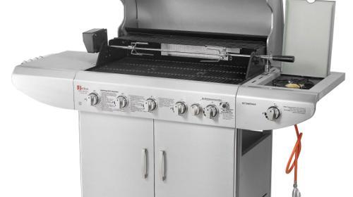 BBQ Gas Grill 6 Fach + Seitenkocher Profi mieten - Grill Gasgrill