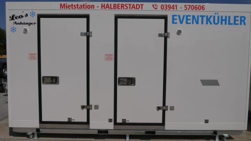 Mobile Kühlzelle Kühlcontainer Getränkekühler Catering Festival Event Kühler Pythonleitung mieten