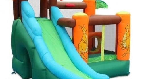 Zwergen Hüpfburg mit Rutsche zu vermieten für bis zu 4 Kinder!