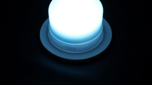 Akku LED-Rundlampen -  LED-Schwimmleuchten geignet auch für Rundtische - Bankettische