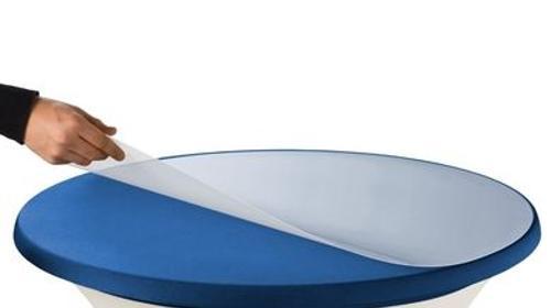 Schutzplatte Abdeckplatte Stehtische Kunststoff Ø83cm transparent