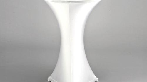 Stretchhusse oder Husse mit Band für Stehtische mit Ø=70-80cm, weiß schwarz und viele andere Farben