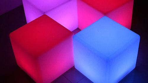 LED Sitzwürfel / Loungemöbel / Lounge Cube / Loungehocker / Sitzhocker / Akku LED
