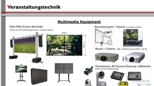 Leinwand / Multimedia / Video