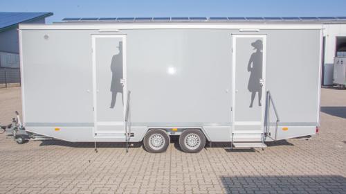 Toilettenwagen 5&1 silber