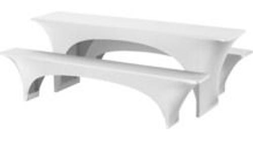 Stretchhussen Set für Festzeltgarnitur Bierzeltgarnitur