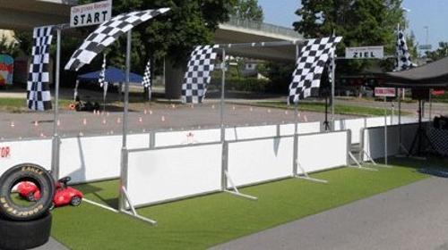 Bobbycar Rennen Professional, Autorennen, Rennstrecke mieten, leihen