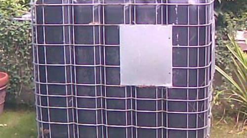 Wassertank 1000 Liter schwarz - Lichtundurchlässig