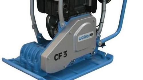 Verdichter - Rüttelplatte - Vibrationsplatte CF 3 R - Betriebsgewicht 99 kg - Verdichtungstiefe ca. 30 cm