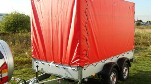 Tieflader 2000 kg gebremst doppelachser / 100 km/h - Nutzlast 1540 kg - Mehr als 200 Mietanhänger vorrätig.