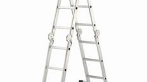 Stehleiter  -  Treppenleiter - Leiter Belastung bis 150 kg - Arbeitshoehe bis 4 m