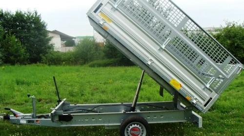 Rückwärtskipper mit Laubgitter 1500 kg - 2510 x 1530 x 1000 mm