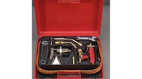 Propan Lötkoffer bis 2000°C - Hart & Weichlöten Turbobrenner 28 mm Durchm