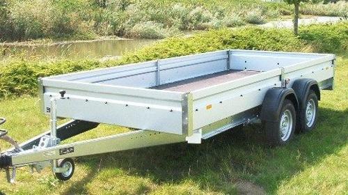offener Kastenanhänger Tieflader 2500 kg gebremst - 100 km/h - 4010 x 1830 x 345